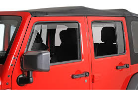 weathertech jeep wrangler weathertech 72443 side window deflector set in light smoke for 07