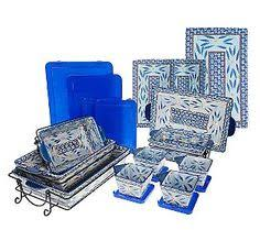 oven to table bakeware sets temp tations floral lace 16 piece oven to table set bakeware qvc