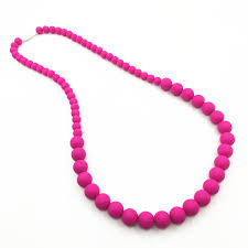 silicone necklace images Fda approved silicone chew teething necklace with chew beads for jpg