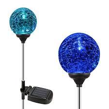 esky sl75 glass globe color changing led solar lights