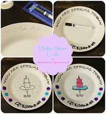 personalized birthday plate diy how to make a personalized plate the pinning