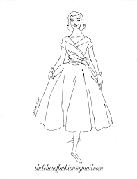 victorian coloring pages of womens dress and fashion coloring