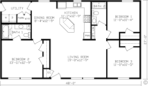 big kitchen house plans simple one house plan two master wics big kitchen
