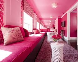 White Pink Living Room by Romantic Pink Living Room With Long Pink Sofa Pink Ceiling And