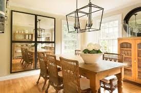 Lantern Chandelier For Dining Room Farmhouse Dining Table With Wicker Chairs Cottage Dining Room