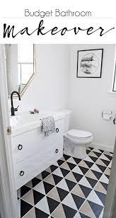 Gray And Tan Bathroom - updating my plain tan checkerboard floor cuckoo4design