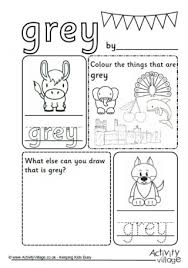 grey activities for kids