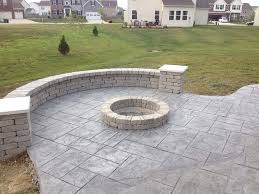 Concrete Firepit Concrete Pits In Decorative Concrete