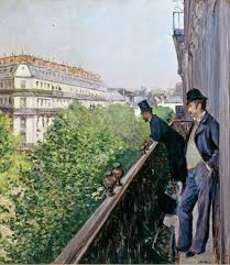 balconey gustave caillebotte balcony boulevard haussmann 1880 artsy