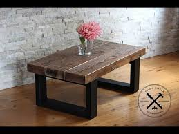 reclaimed wood coffee table with wheels reclaimed wood coffee table with steel legs youtube