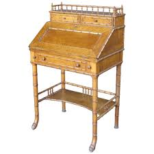 Secretary Desk For Sale by Faux Bamboo Secretaire Desk For Sale At 1stdibs