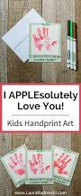 i applesolutely love you kids handprint art kids crafts ideas