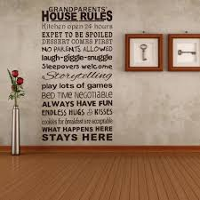 Family House Rules by Wall Stickers Family Rules Color The Walls Of Your House