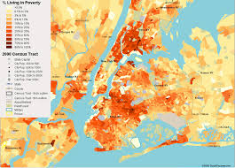 New York Maps by New York City Poverty Map U2014 Visualizing Economics