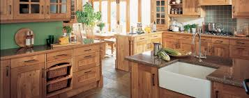 traditional kitchen styling in pippy oak natural oak finish