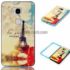 Eiffel Tower Accessories Detachable Pc Frame Tpu Back Cover Case For Huawei Honor 5x