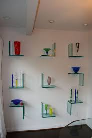 Shelf Designs by Floating Glass Shelf For Elegant And Minimalist Storage Home