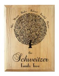 personalized family tree wood plaque on storenvy