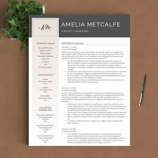 Resume Indesign Template Creative Resume Template The Amelia
