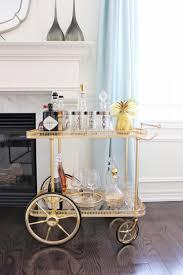 gold and silver home decor bar modern bar carts stunning wine and bar cart art deco