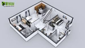 3d floor plan services 3d floor plan of 3 story house with cut section view by yantram 3d