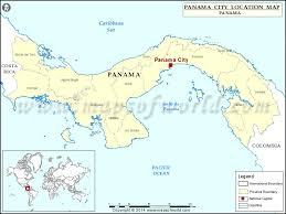 map of panama city where is panama city location of panama city in panama map