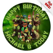 tmnt cake topper mutant turtles cake topper 7 5 inch personalised
