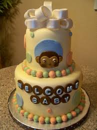 image detail for monkey baby shower cakes 225x300 monkey baby