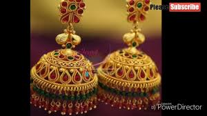 antique gold jhumka earrings antique jhumkas designs