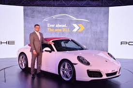 porsche 911 convertible white 2017 porsche 911 carrera and turbo range launched in india