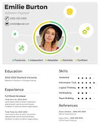 Resume For Information Technology Student Infographic Resume Template Venngage
