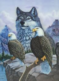 e 7 eagles and wolf 3d picture 3dddpictures com