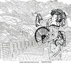 chinese dragon coloring pages easy beautiful girl on background great stock vector beautiful girl on