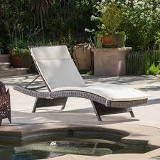 Patio Pillow Storage by Christopher Knight Home Outdoor Brown Wicker Adjustable Chaise