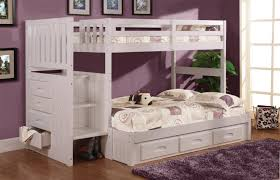 Bunk Beds With Drawers  White Circles Twinfull Bunk Bed U - Twin over full bunk bed trundle