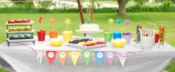 party table a rainbow 7th birthday party party ideas party printables