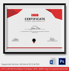 award certificate template 25 word pdf psd format download