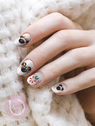 disney christmas mickey water nail decal nail design nails