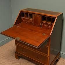 spectacular edwardian inlaid mahogany antique bureau desk