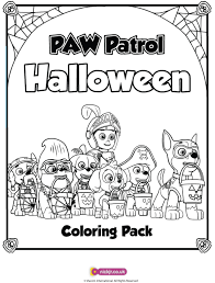 paw patrol halloween coloring pages u2013 festival collections