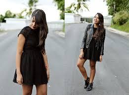nydia enid h u0026m lace dress h u0026m leather jacket pacsun black cut