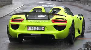 porsche 918 wallpaper acid green porsche 918 spyder start up revs u0026 overview youtube