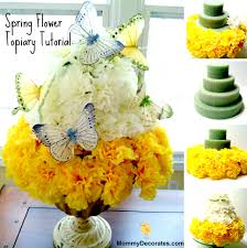 Easy Homemade Easter Table Decorations by How To Make A Spring Flower Topiary Families Make This Easy Diy