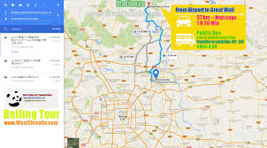 Beijing China Map by Great Wall Of China Tour Travel Guide