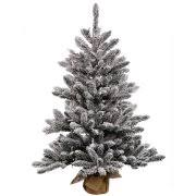 time pre lit 4 greenfield flocked pine green artificial