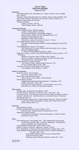 How To Make A Theatre Resume Free Acting Resume Builder Free Resume Example And Writing Download