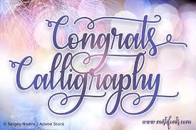 calligraphy font congrats calligraphy font dafont