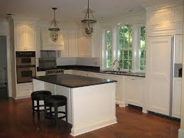 Dark And Light Kitchen Cabinets by Kitchens With Dark Cabinets And Light Island Rectangle Brown