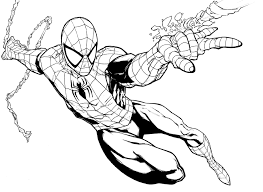 spider man edge coloring pages coloring pages kids