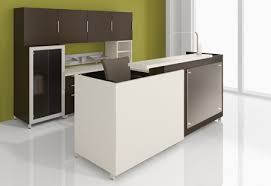 Espresso Reception Desk Espresso Lamiante Reception Desk